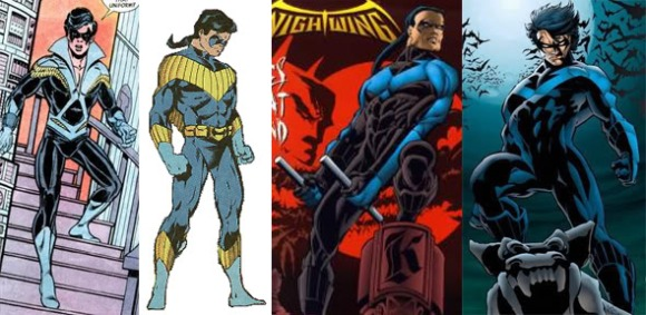 Disco, Ponytail Mullets, Emo-fringes. Nightwing seems to be a by-word for what comic creators think kids are into.